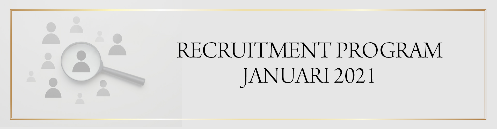 recruitement program january 2021